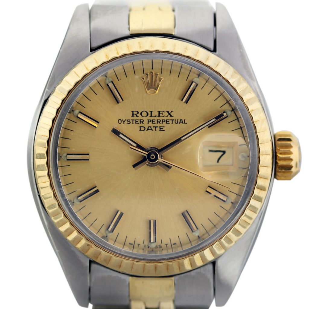 vintage rolex date 6917 two tone gold