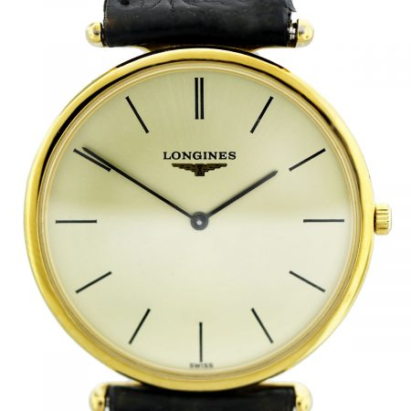 Longines La Grand Classique Champagne Dial Gold Plated Watch