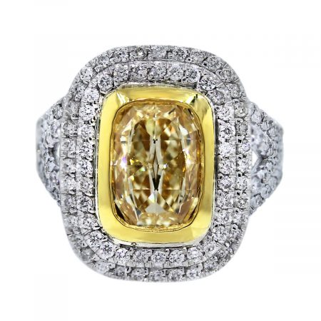 4.01ctw Fancy Yellow Diamond Engagement Ring