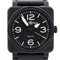Bell & Ross Aviation BR03-92 Black Carbon Mens Watch