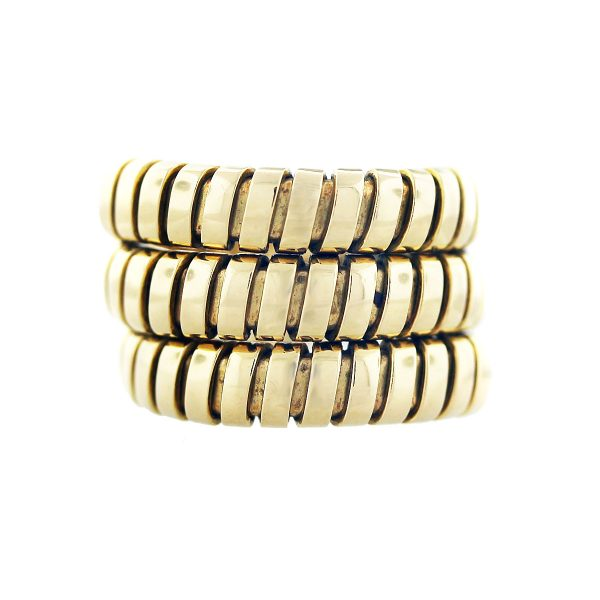 You are viewing this Bulgari 18k Yellow Gold Tubogas Ring!