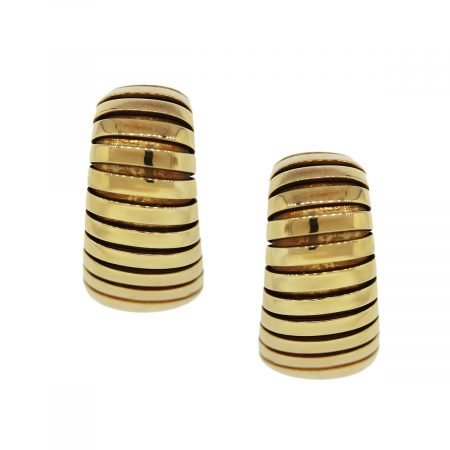 18k Yellow Gold Tubogas Bulgari Earrings