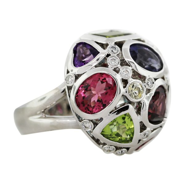Semi-precious gemstone ring