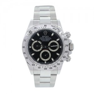 Stainless Steel Rolex Daytona 116520 Black Dial Mens Watch