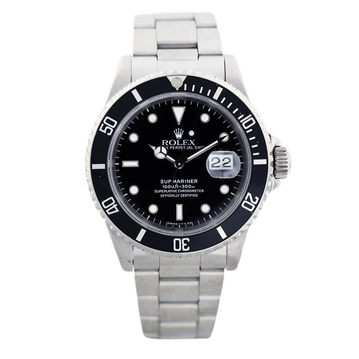 rolex submariner 16610 stainless steel mens