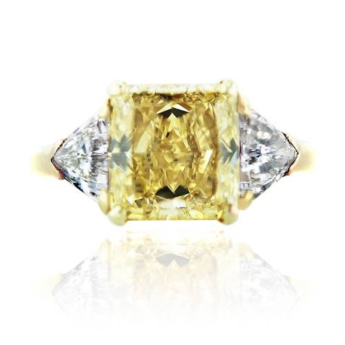 Van Cleef and Arpels Fancy Yellow Radiant Diamond Engagement Ring