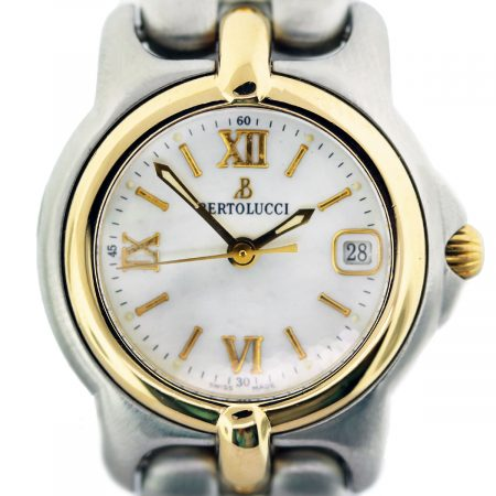 Bertolucci Mini Vir Two Tone Mother of Pearl Roman Dial Ladies Watch