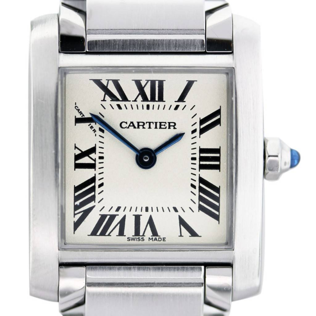 3b70a8812ff62 Cartier Stainless Steel Ladies Tank Francaise Watch-Boca Raton