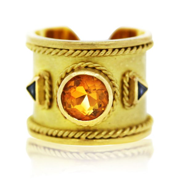 Sapphire and Citrine Ring