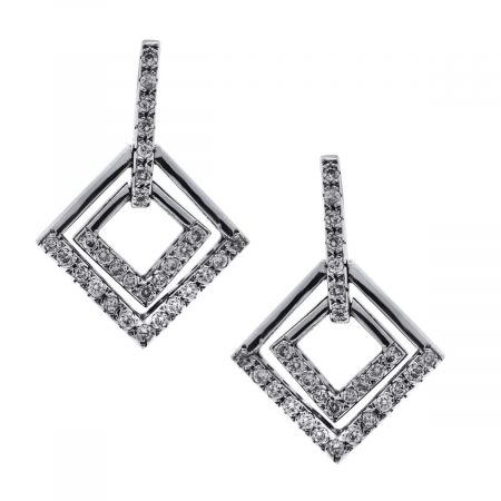 Diamond and Gold Dangle Earrings