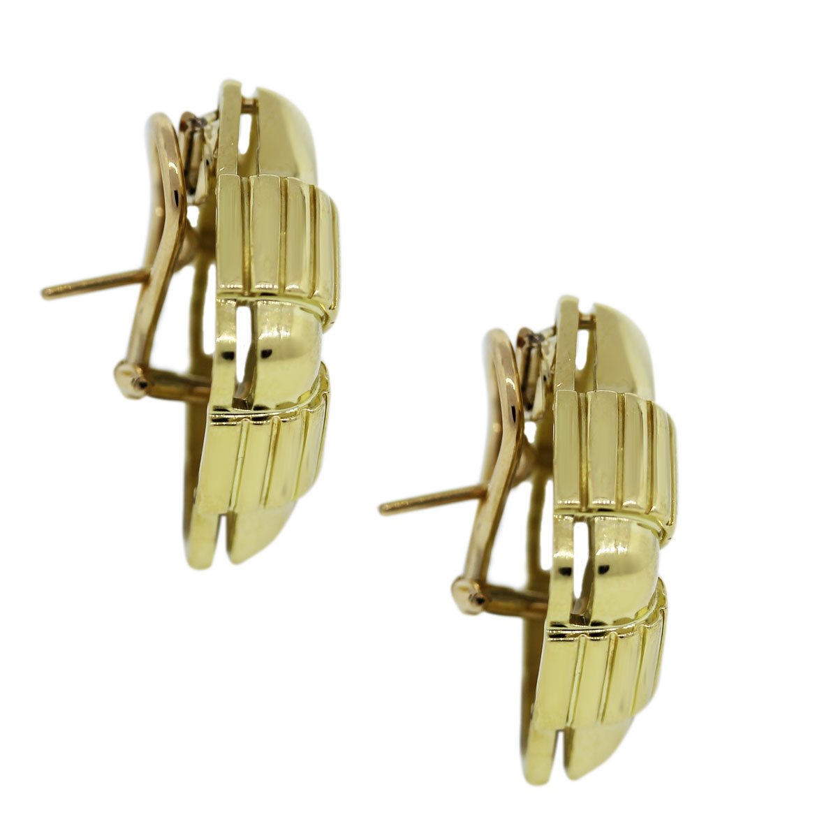 Gold and Diamond Retro Earrings