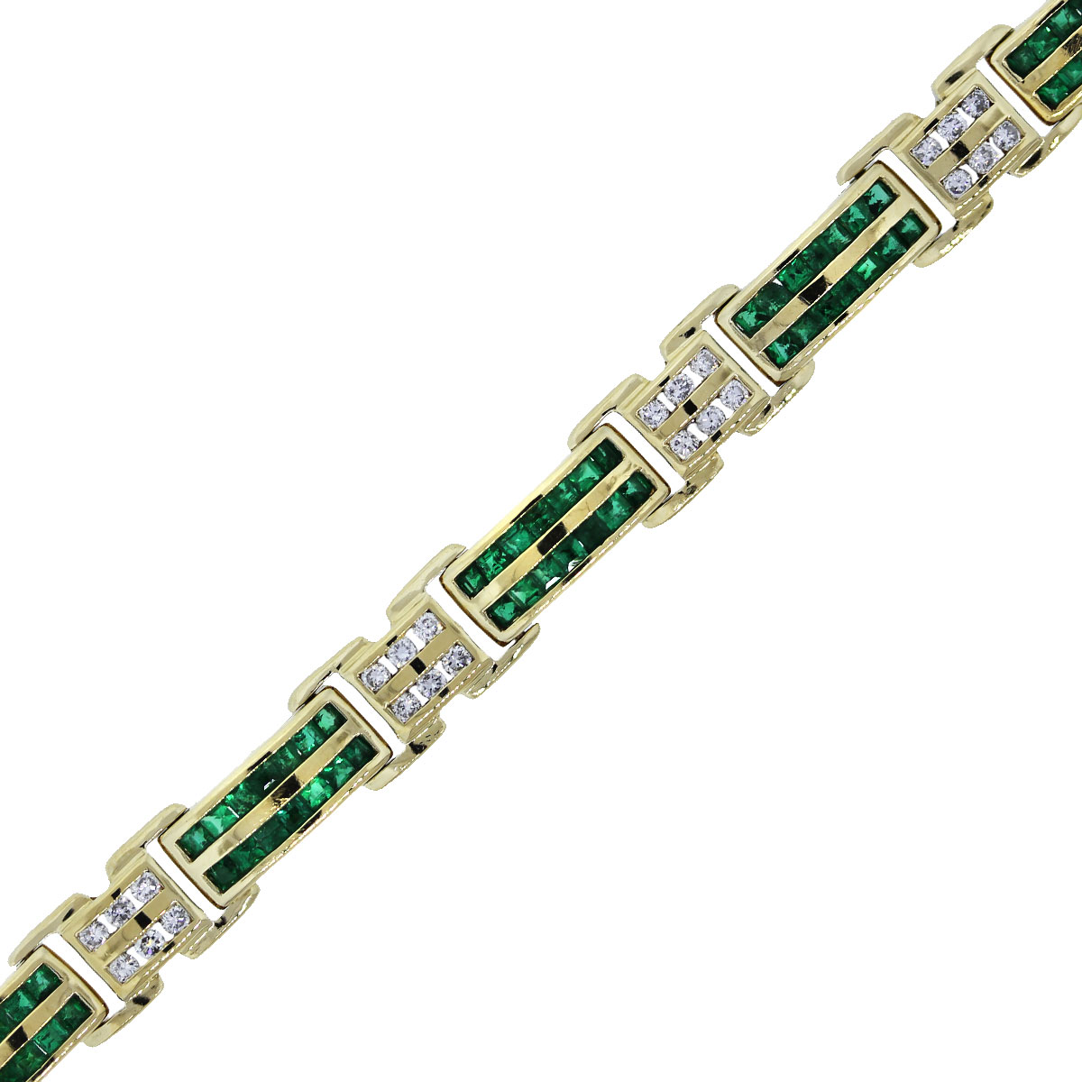 Used Emerald and Diamond Bracelet