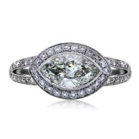 Platinum 1.49 Carat Marquise Cut Engagement Ring
