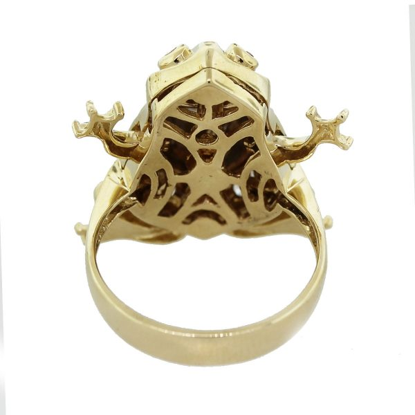 Moveable Frog Ring