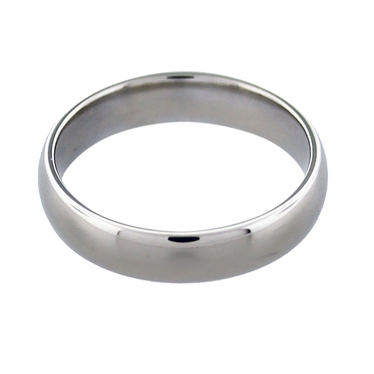 14k White Gold Mens Wedding Band Boca Raton