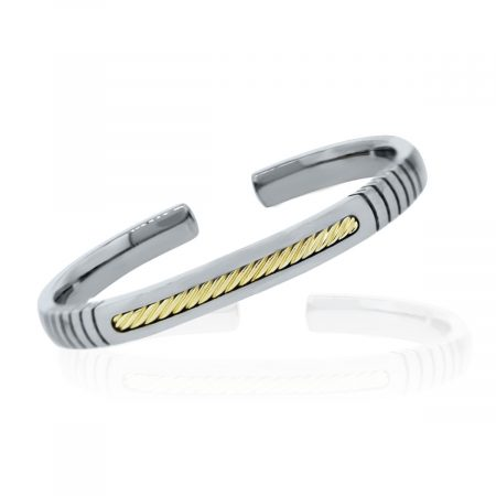Yurman Gold and Sterling Silver Cuff