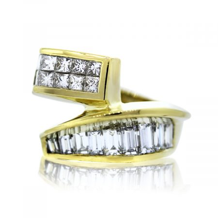 Princess Cut and Baguette Cocktail Ring