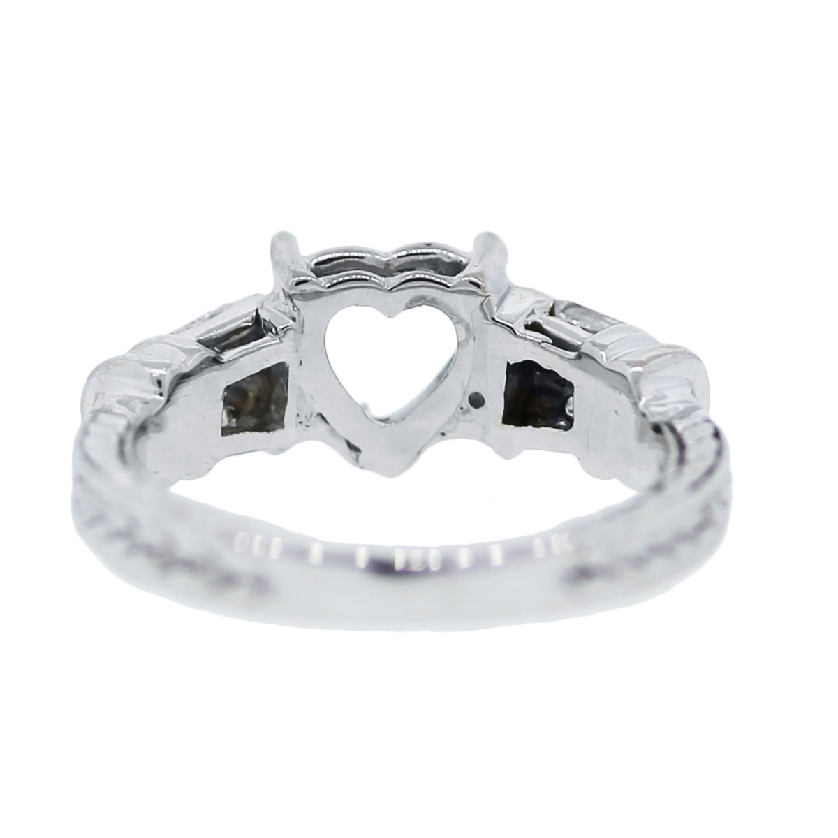 Diamond Heart Shaped Ring Mounting