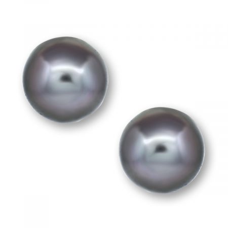 White Gold Tahitian Pearl Earrings