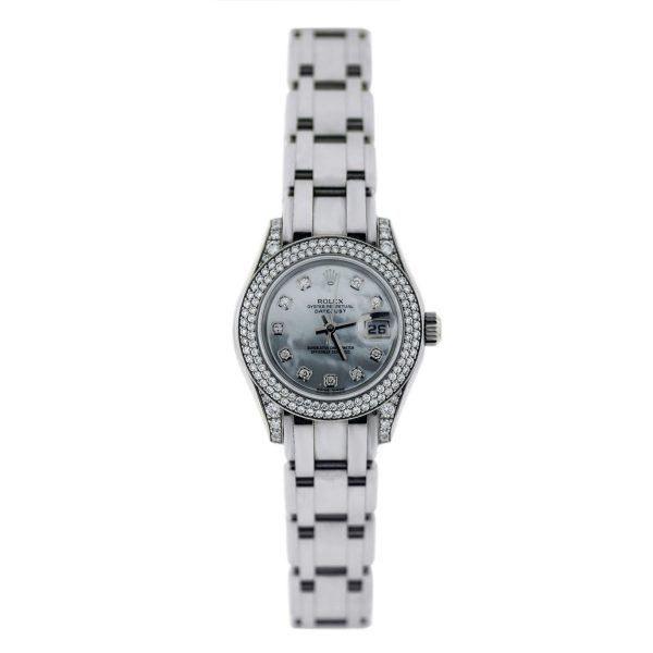 White gold MOP Diamond Pearlmaster Watch