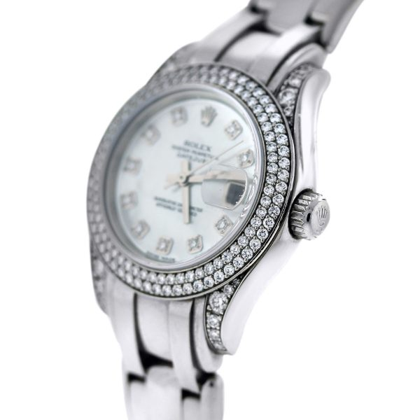 White Gold Rolex Pearlmaster 80359