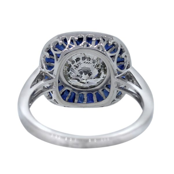 Sapphire and Diamond Engagement Ring
