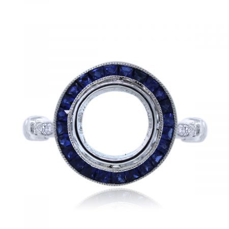 Sapphire and Diamond Engagement Ring Mounting