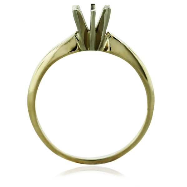 14k Yellow Gold 6 Prong Solitaire Engagement Ring Mounting Boca Raton