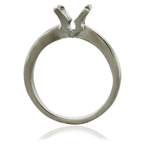 18k White Gold Solitaire 4 Prong Engagement Ring Mounting South Florida