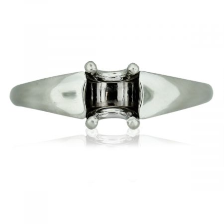 Platinum 4 Prong Solitaire Horse Shoe Engagement Ring Mounting