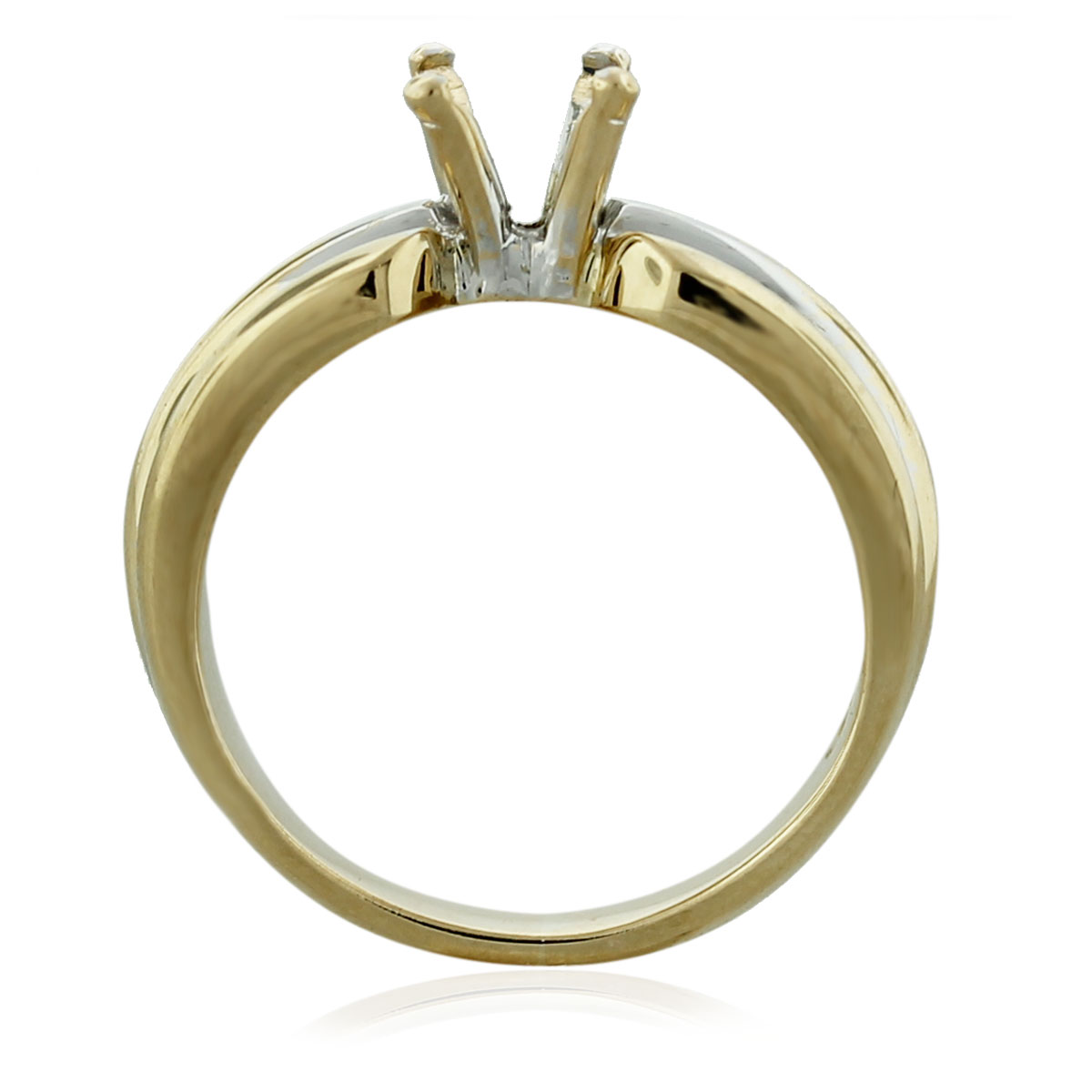 14kt Yellow gold 4 Prong Solitaire Engagement Ring Mounting South Florida