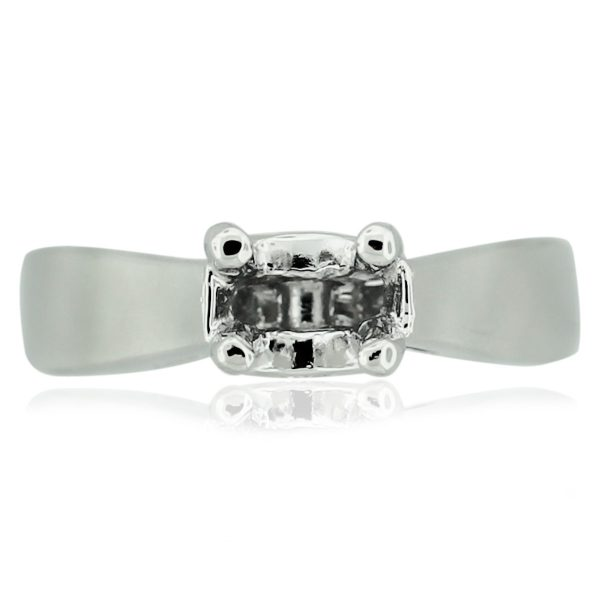 18kt White Gold Solitaire Diamond Engagement Ring Mounting