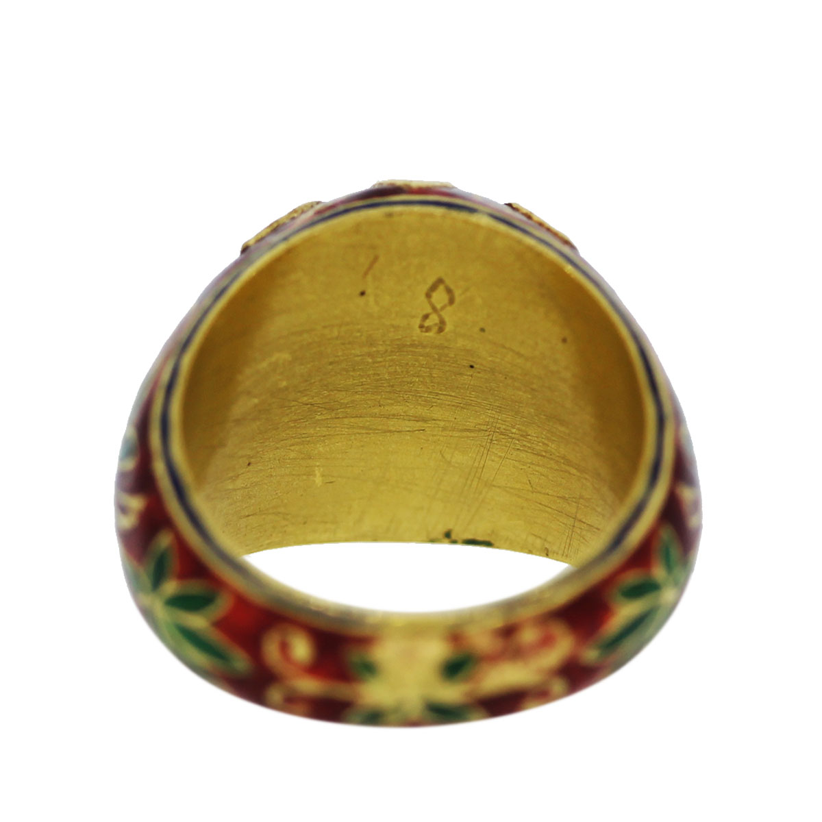 Estate Yellow Gold Ruby Cabochon Ring