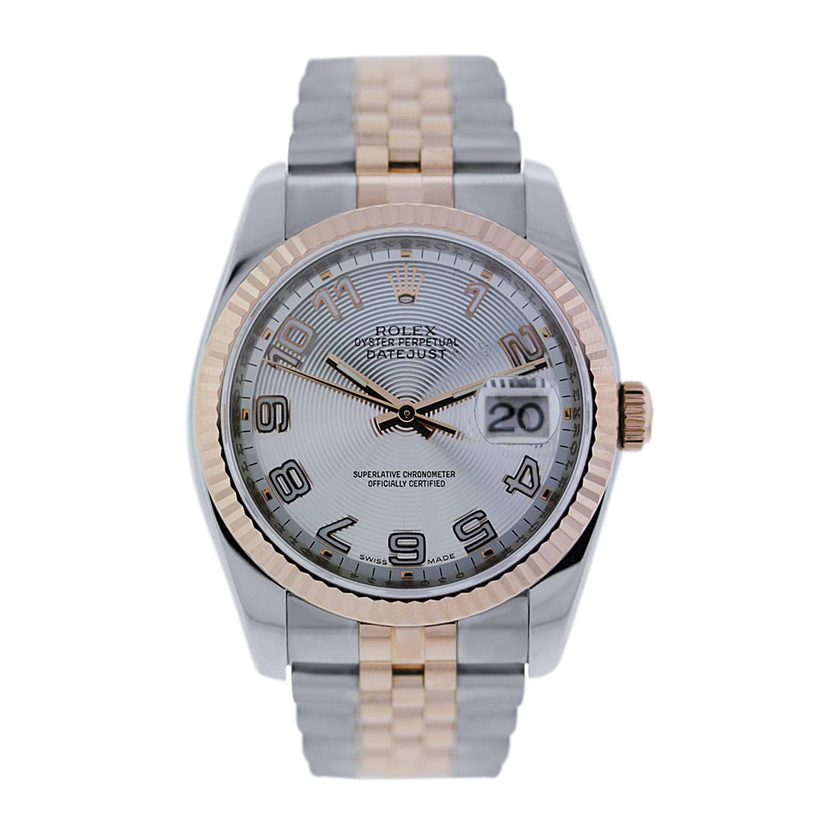 Rolex Datejust 116231 Concentric Dial Two Tone Rose Gold Watch