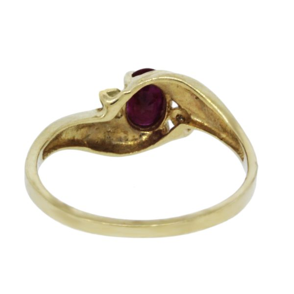 Gold and Diamond Ruby RIng
