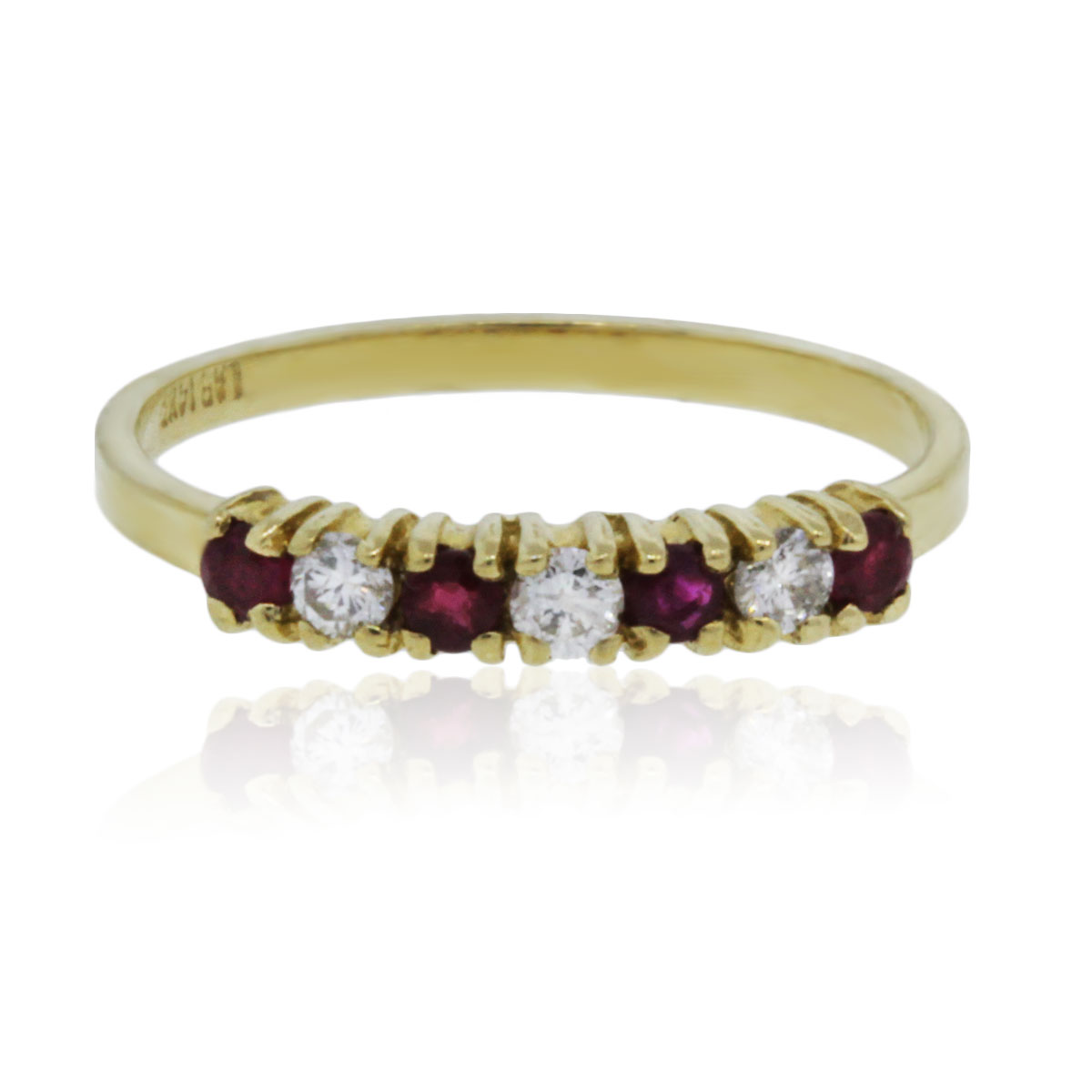 Diamond Ruby Wedding Ring