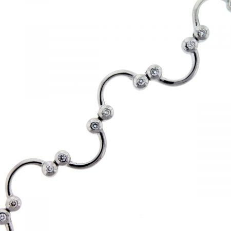 White Gold Squiggle Bracelet With DIamonds