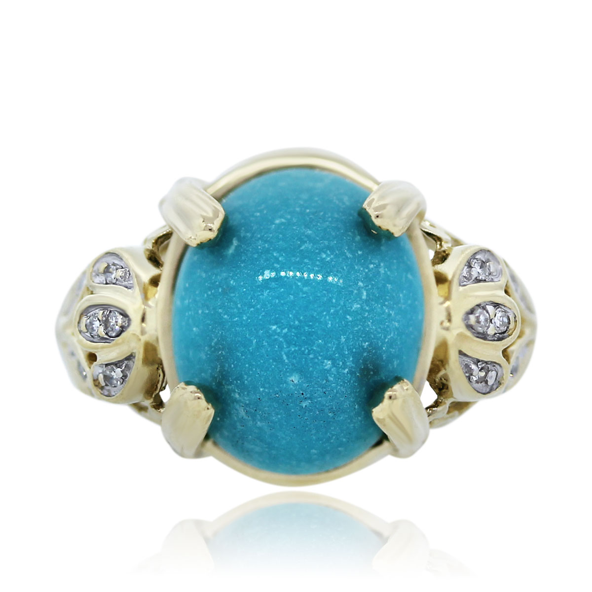Gemstone and diamond Ring