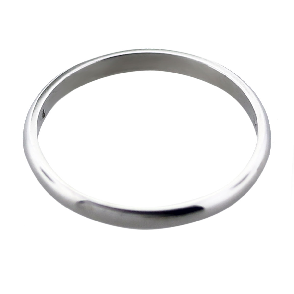 14k White Gold Ladies Thin Wedding Band