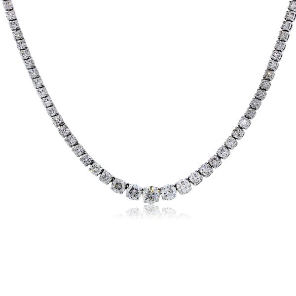 22.41 Ctw Diamond Tennis Necklace
