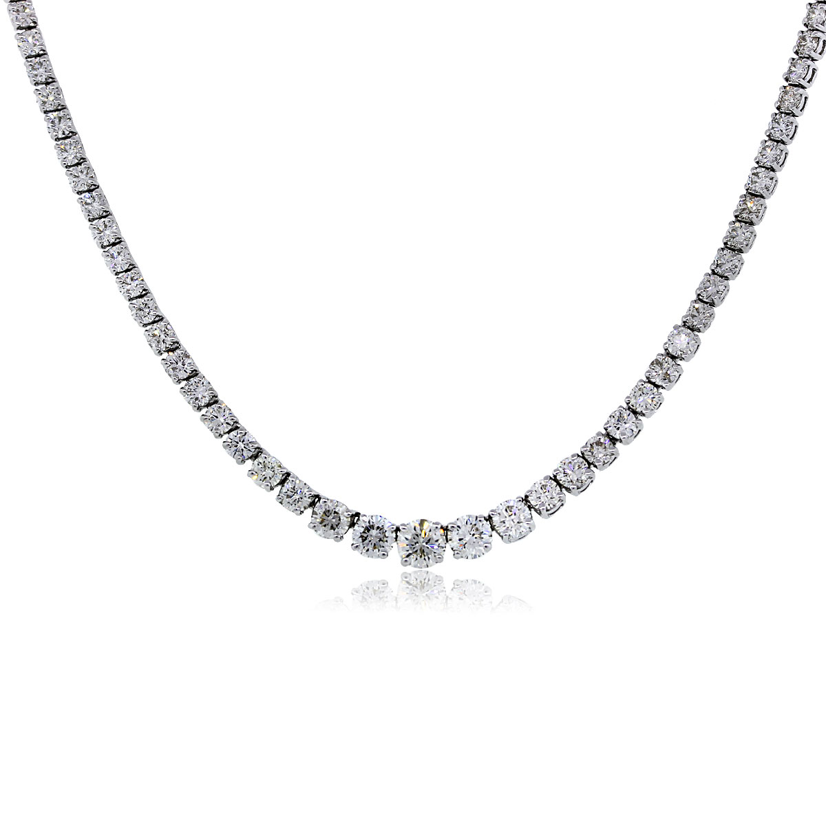 18k White Gold Diamondn Necklace