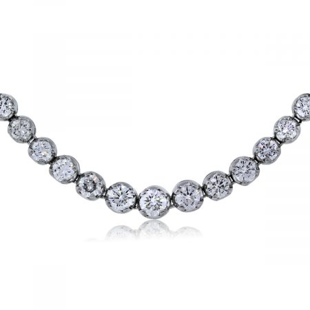 8.14Ctw Diamond Tennis Necklace