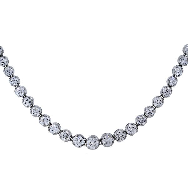 White Gold Tennis Necklace