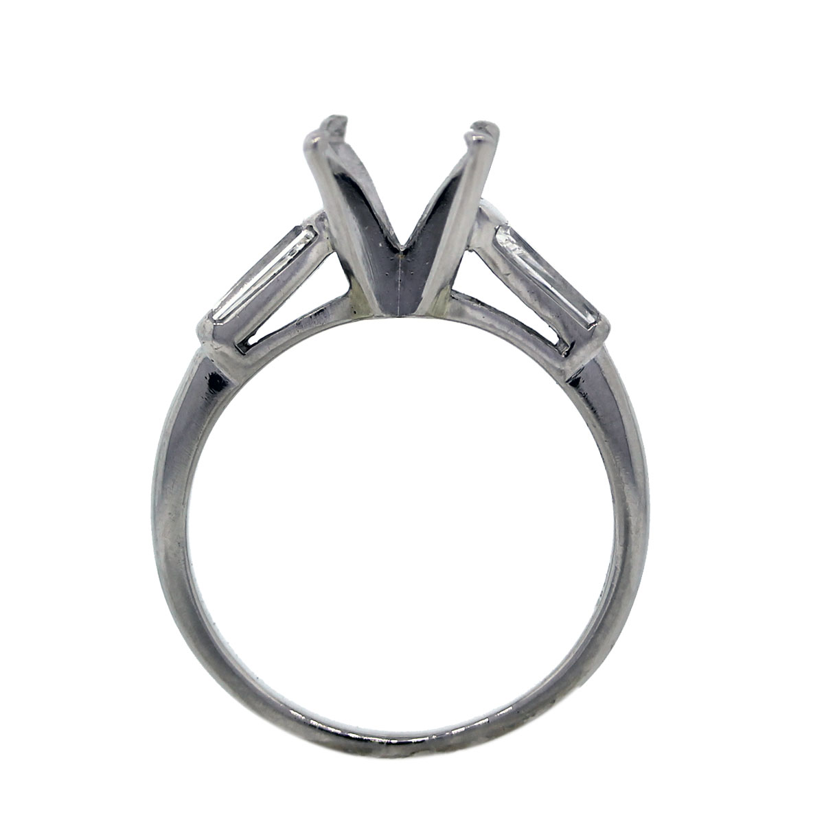 Estate Four Prong Engagement Ring Setting
