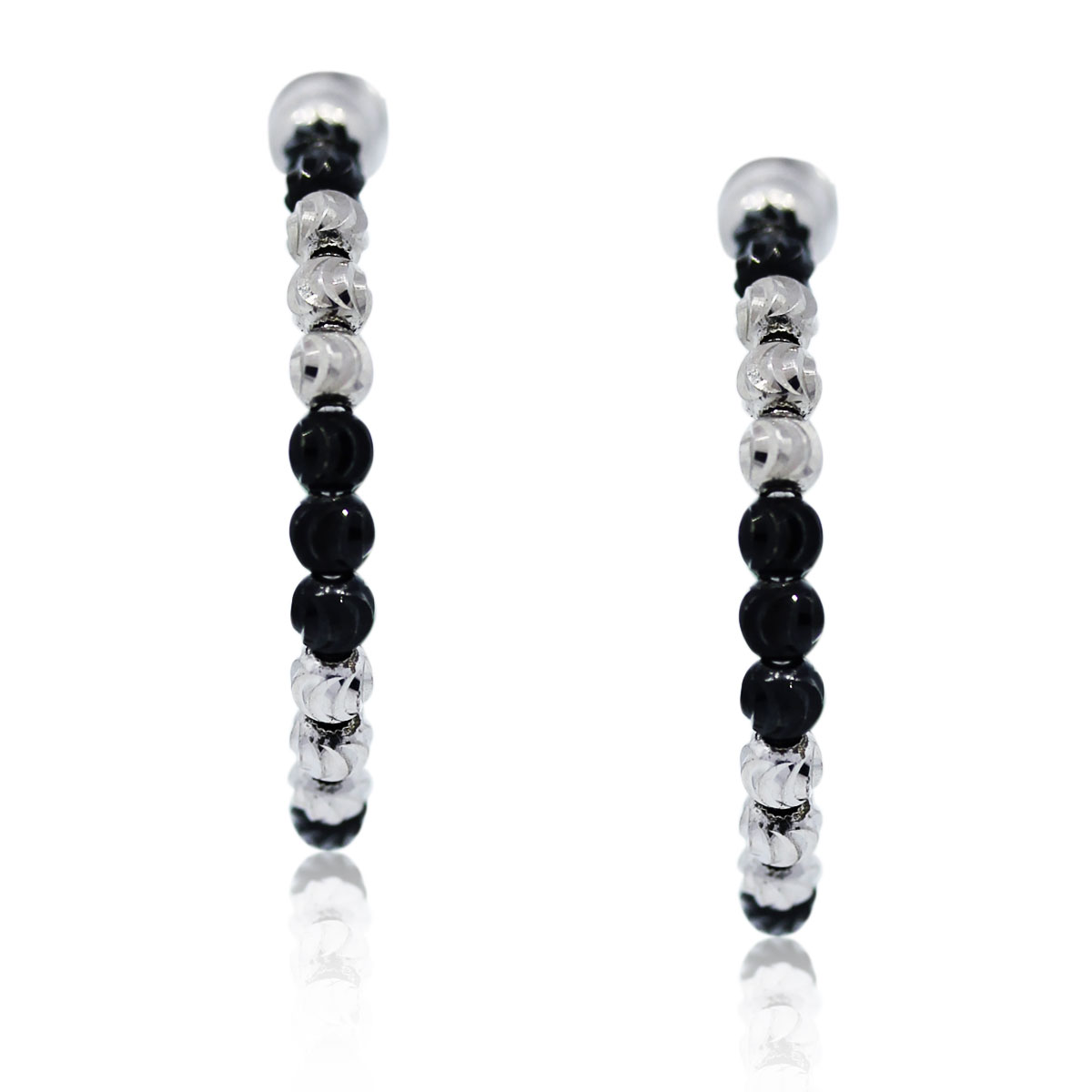 Officina Bernardi Black Sterling Silver Earrings