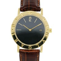 Bvlgari BB33GL Gold Watch on Brown Leather Strap