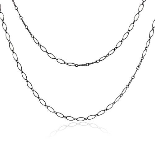 bd564aa551a Tiffany   Co. 18k White Gold Oval Link Chain Necklace-Boca Raton