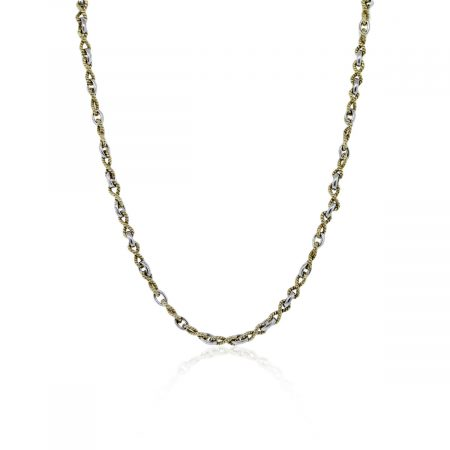 Two Tone Gold Chain Necklace