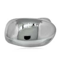 CHANEL Sterling Silver Crossover Ring