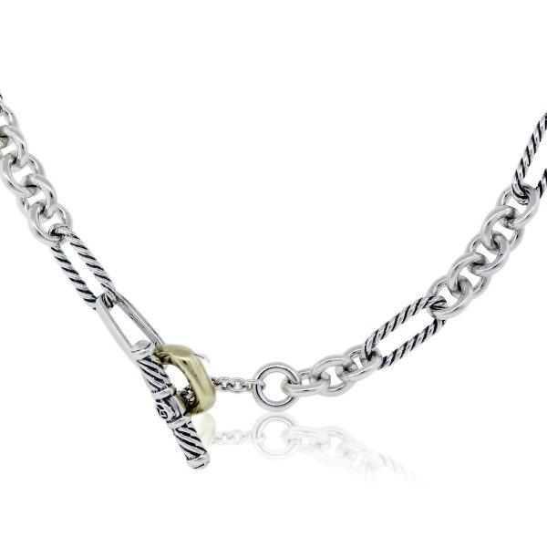 David Yurman Gold and Sterling Silver Necklace